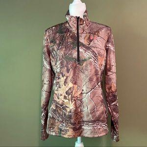 Under Armour Camo quarter zip jacket MD/M